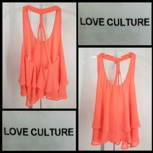 Love Culture woman layer crop tank top size large
